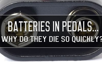 How fast do guitar pedals drain batteries?