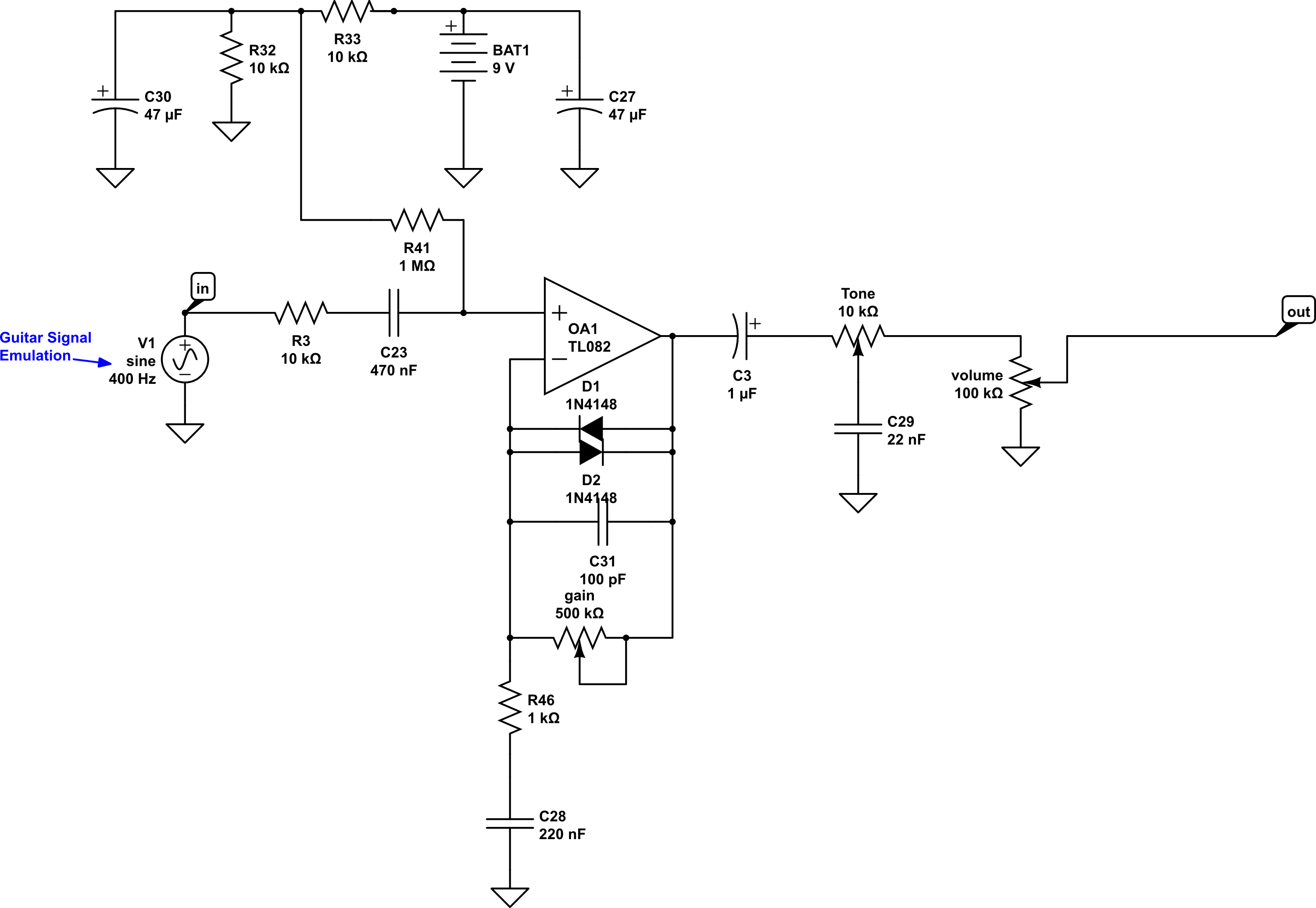 How to design a basic overdrive pedal circuit | Wampler PedalsWampler Pedals